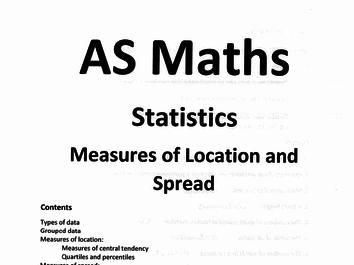 Edexcel A-Level Statistics Chapter 2 Measures of location and spread