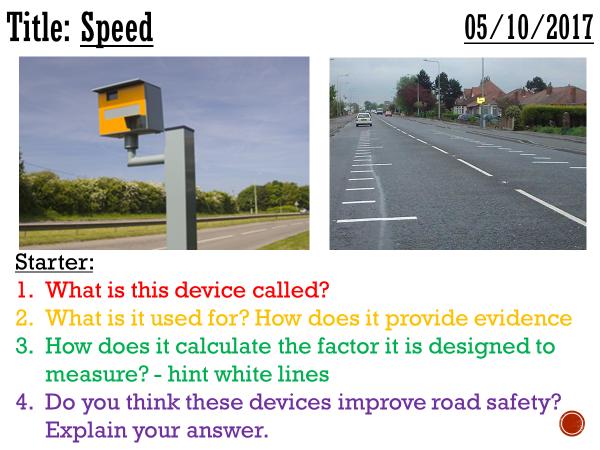 Speed - complete lesson (KS3)