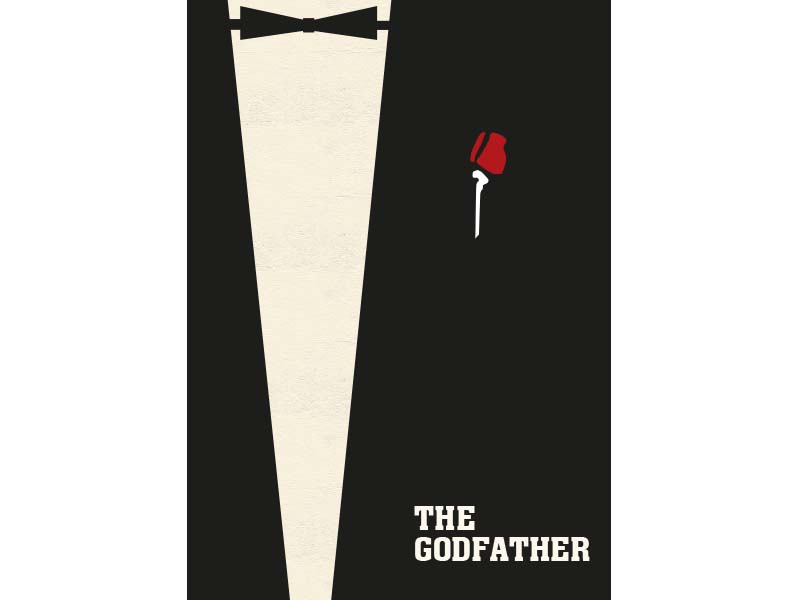 Illustrated The Godfather Film Poster