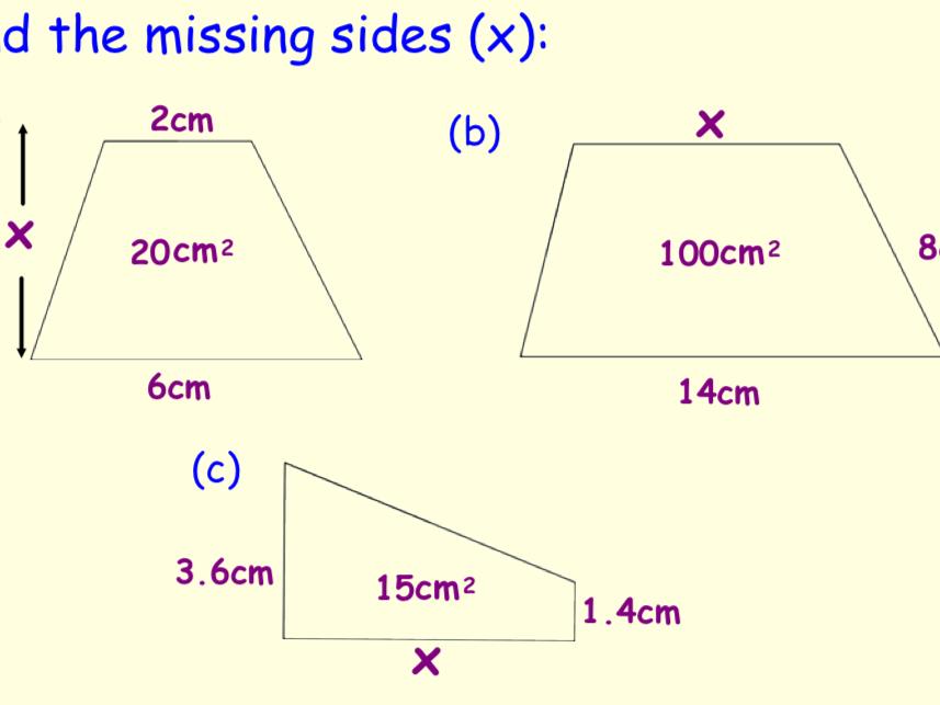 Area, Perimeter, Volume, Angles and Pythagoras Revision