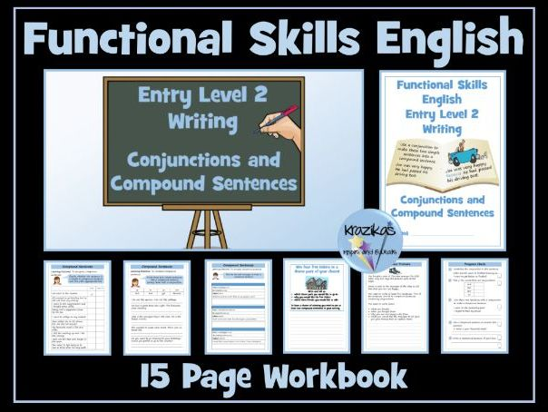 Functional Skills English - Entry Level 2 - Writing - Conjunctions and Compound Sentences