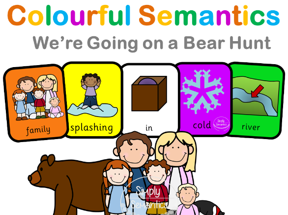 Colourful Semantics: We're Going on a Bear Hunt