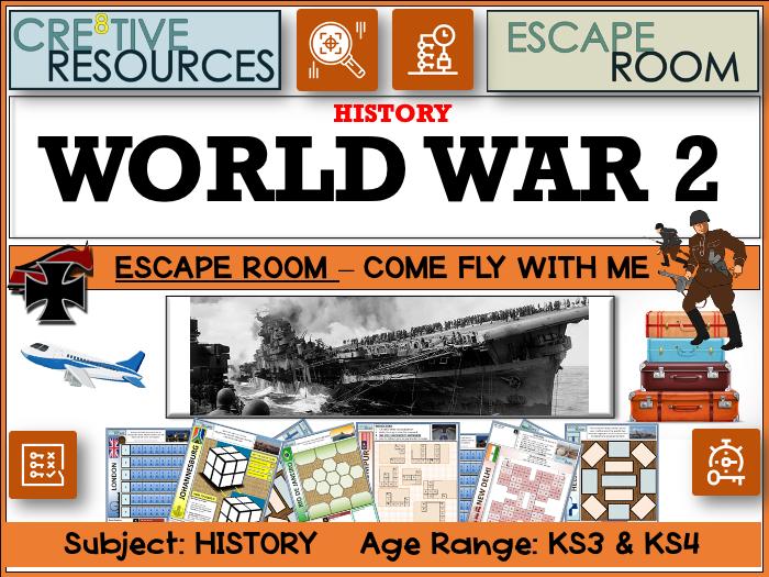 WW2 World War 2 History Escape Room
