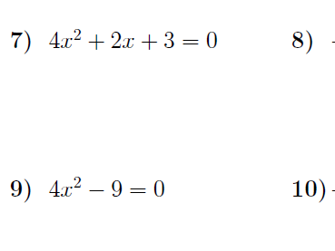 Discriminant of a quadratic equation worksheets (with solutions)