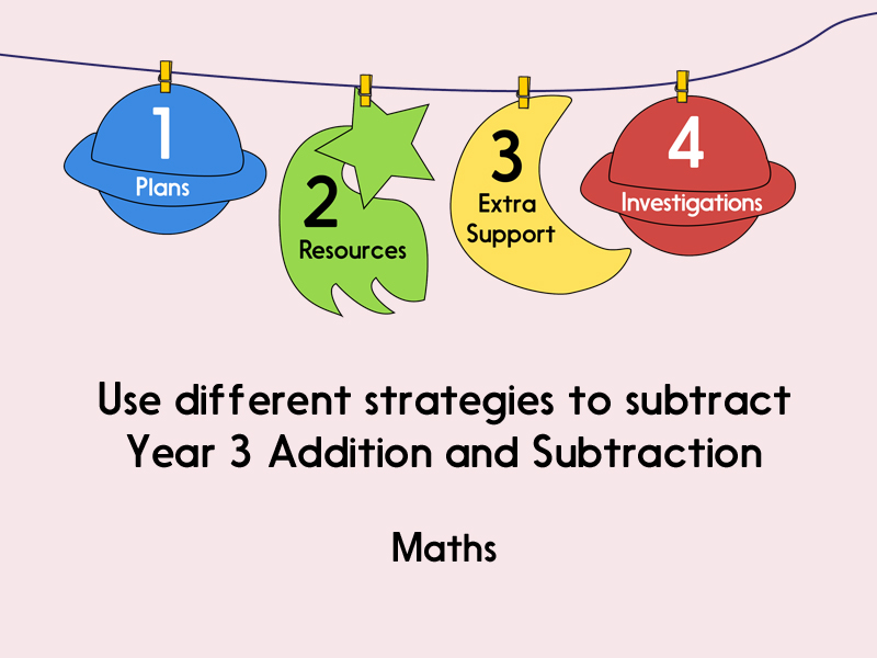 Use different strategies to subtract two numbers (Year 3 Addition and Subtraction)