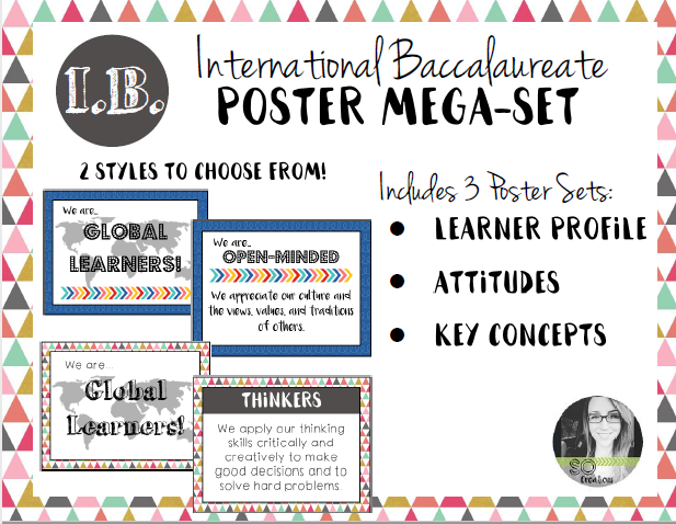 International Baccalaureate Poster Bundle (Learner Profile, Key Concepts, & Attitudes)