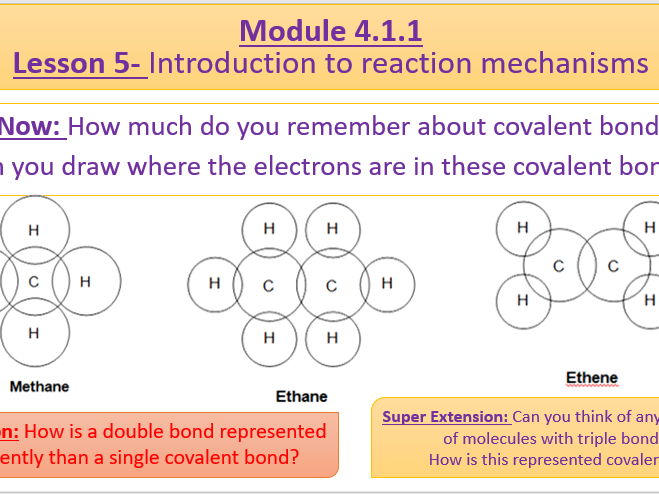 Chemistry A Level OCR A- 4.1.1 Lesson 5- Introduction to reaction mechanisms