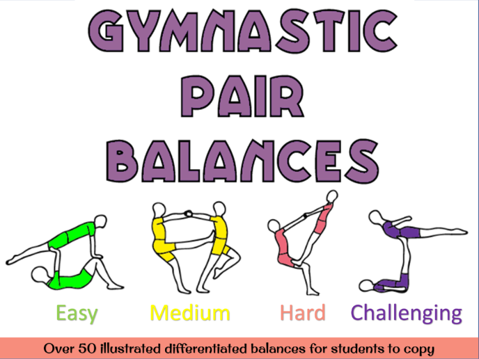 Gymnastics pair balances