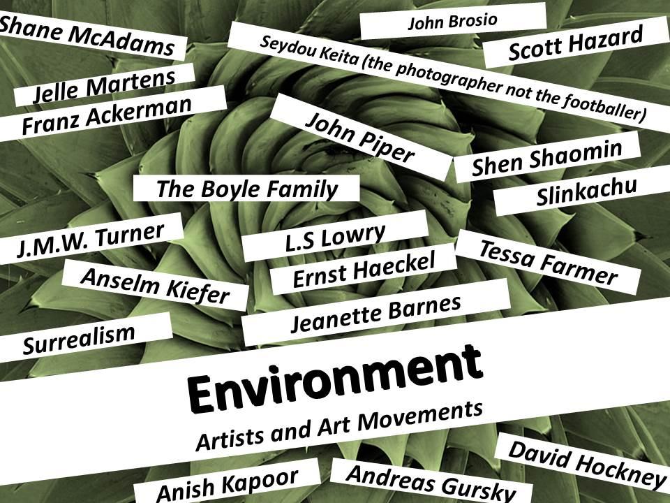 Environment A2 Art Exam 2017 Edexcel