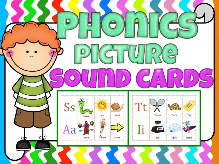 Phonics Picture sound cards that will complement any phonics program