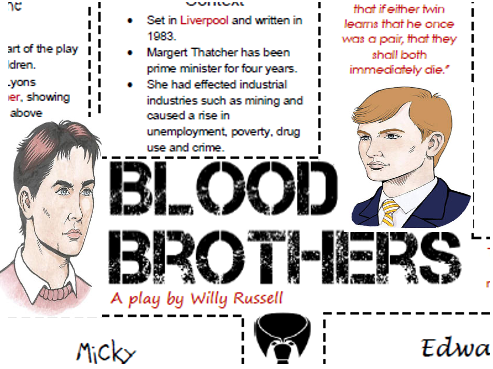 GCSE Drama Blood Brothers Full Scheme of Work & Revision/Design lesson bundle