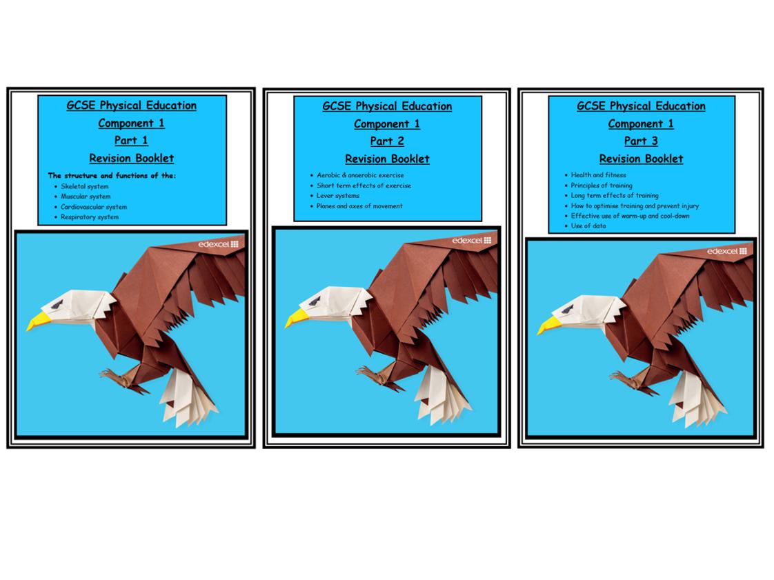 GCSE PE - Edexcel - Component 1 - Complete Revision Booklets