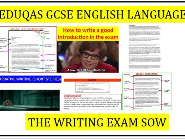 EDUQAS GCSE English Language Writing exam SOW