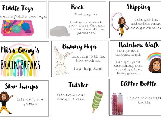 Brain Breaks and Calm Cards