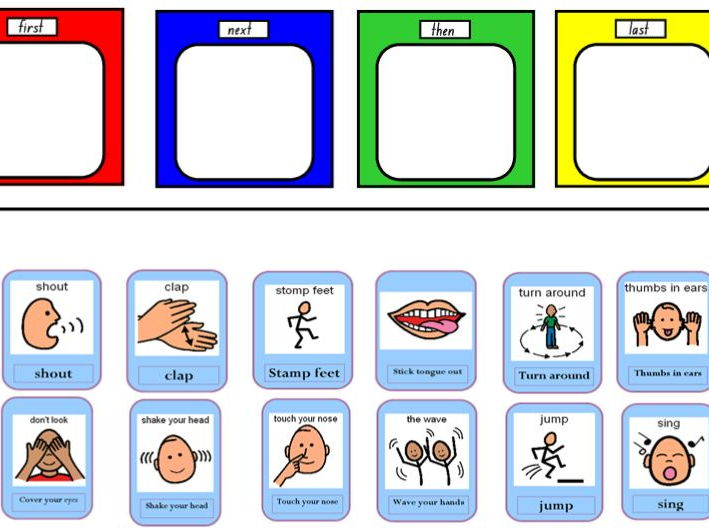 Telling the Time - sequencing events.