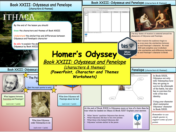 Homer's Odyssey – Book XXIII: Odysseus and Penelope (characters & themes)