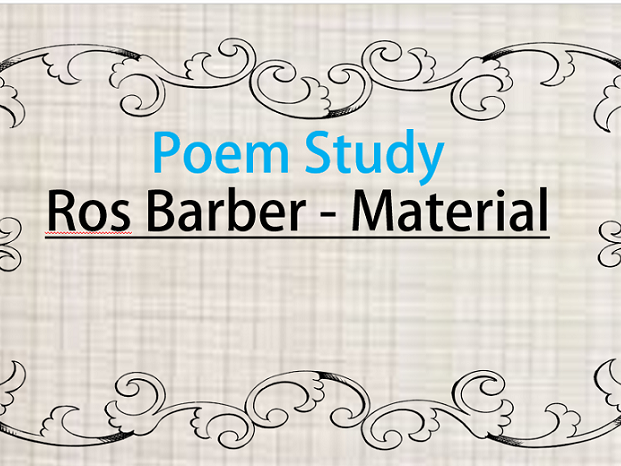 Poem Analysis - 'Material' by Ros Barber