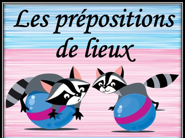 French prepositions of place. Posters.