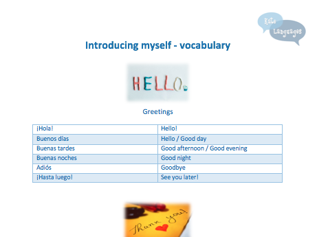 Key Stage 3 Spanish - Introducing myself - Vocabulary and grammar