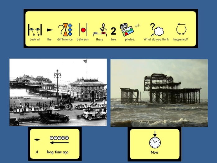 (Widgit symbols) Sights and Sounds of Brighton  - Focus - West Pier