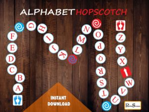 Alphabet Sensory Path Set / Printable floor design for Nursery School / Hopscotch Sensory Path