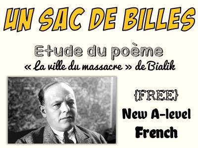 """Un sac de billes - Etude du poème """"La ville du massacre"""" de Bialik - FREE"""