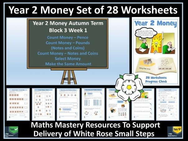Money: Year 2 Money - Autumn - Block 3 - Set of  28 Worksheets - Resources For WRM Small Steps