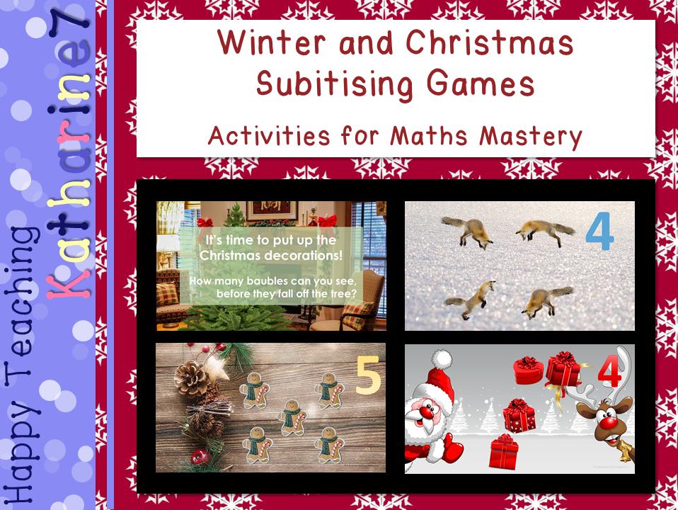 Winter / Christmas subitising maths game