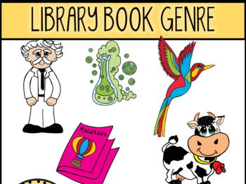 Library Book Genres Clip Art