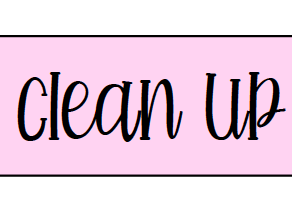 Clean Up Label