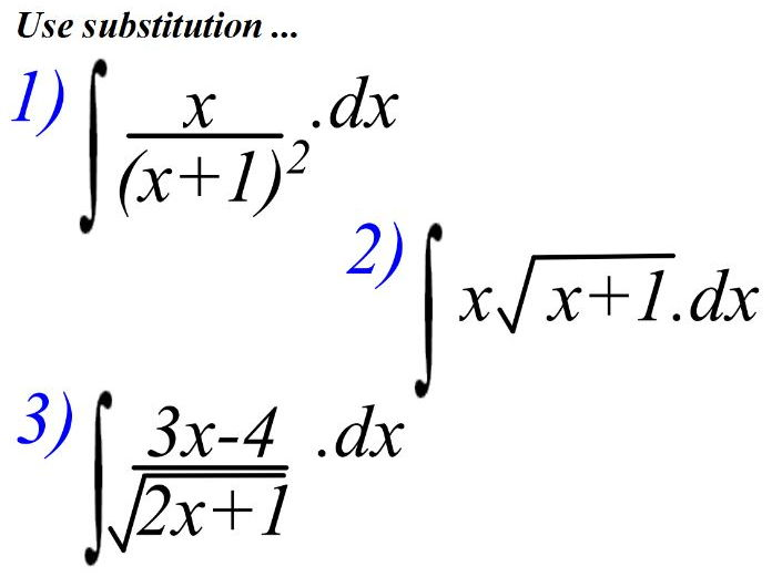 A level Integration using substitution