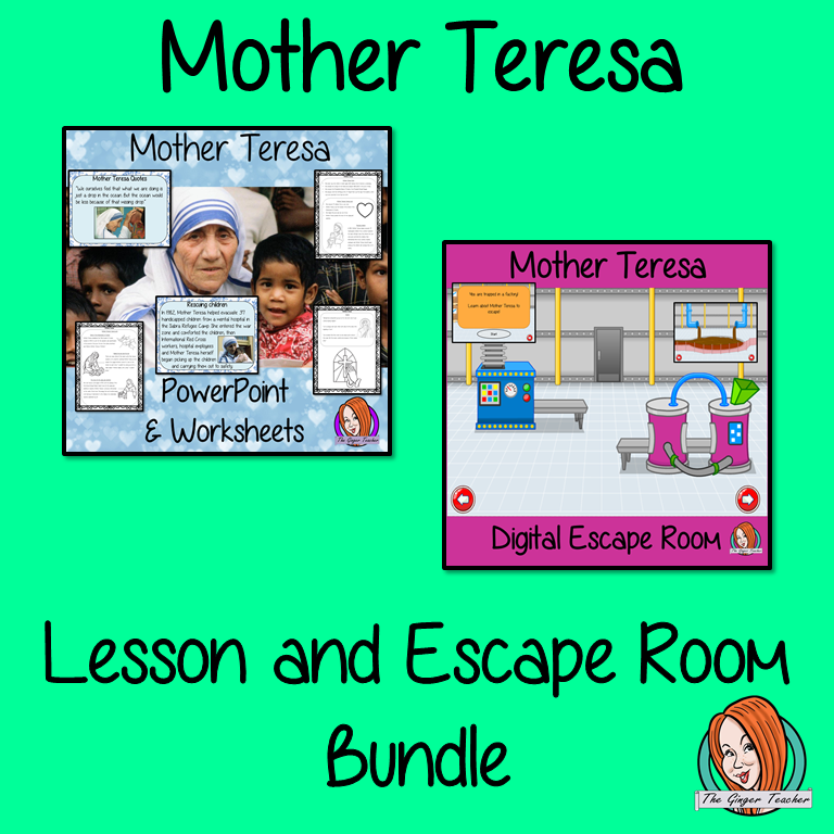 Mother Teresa Lesson and Escape Room Bundle