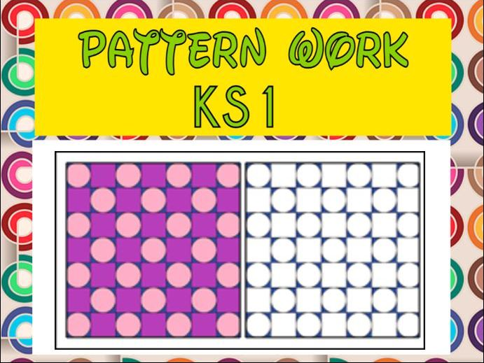 Circles and Squares Pattern Work EYFS / KS1