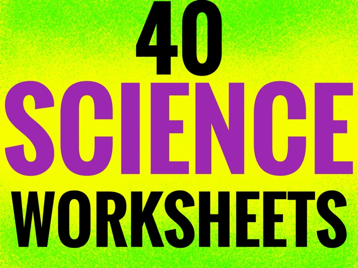 Science Worksheets. 40 themed worksheets