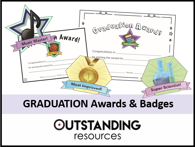 GRADUATION AWARDS Set - 26 Badges and 52 Certificates (A4 or A5)