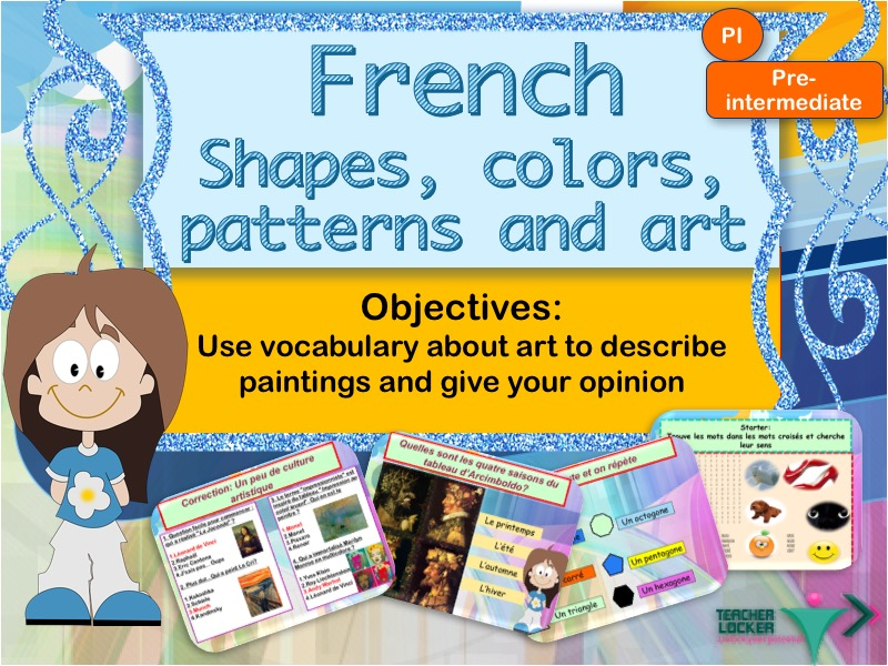 French art, shapes and colors full lesson / Les formes et couleur en francais