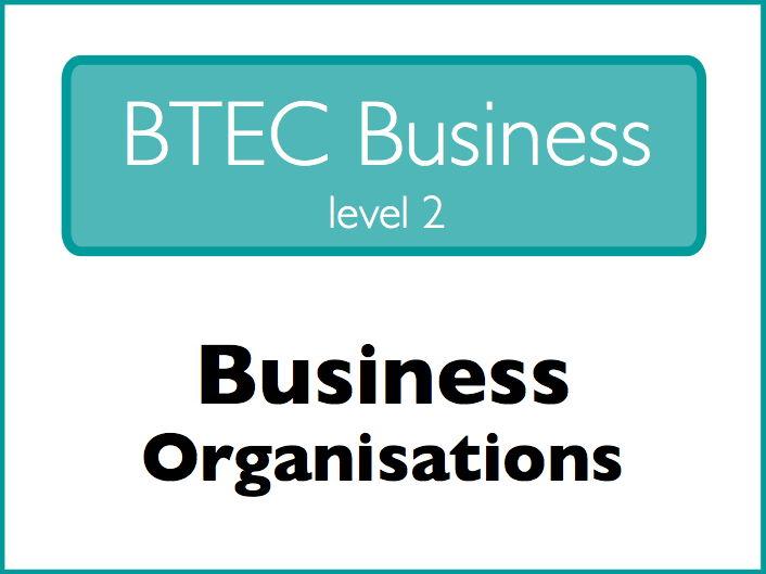 Business Studies: business organisations