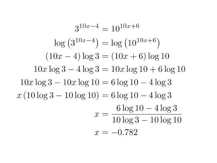 Logarithm Worksheets Part 1