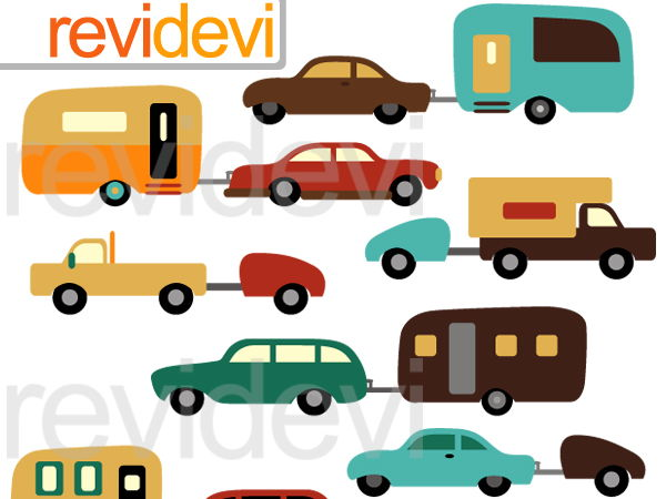 Cars And Caravans Clip Art Graphics By Revidevi Teaching - Graphics for caravans