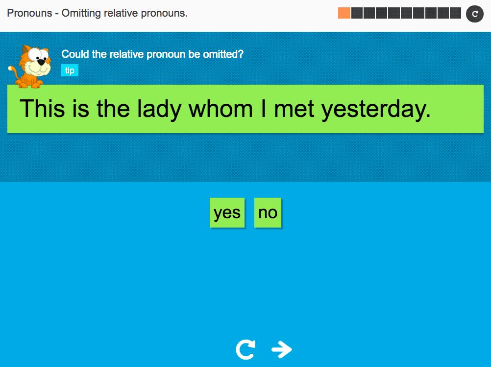 Omitting relative pronouns - Interactive Activity - KS3 Spag