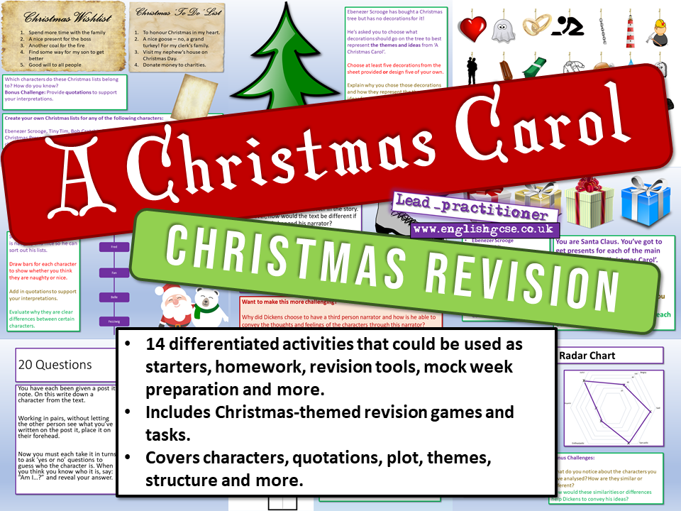 A Christmas Carol Revision by Lead_Practitioner | Teaching Resources