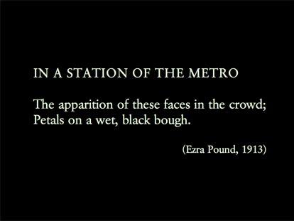 Imagist Poetry - Ezra Pound