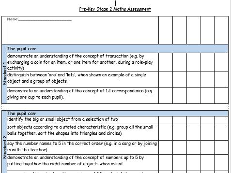 Pre-KS2 Maths Assessment Standards