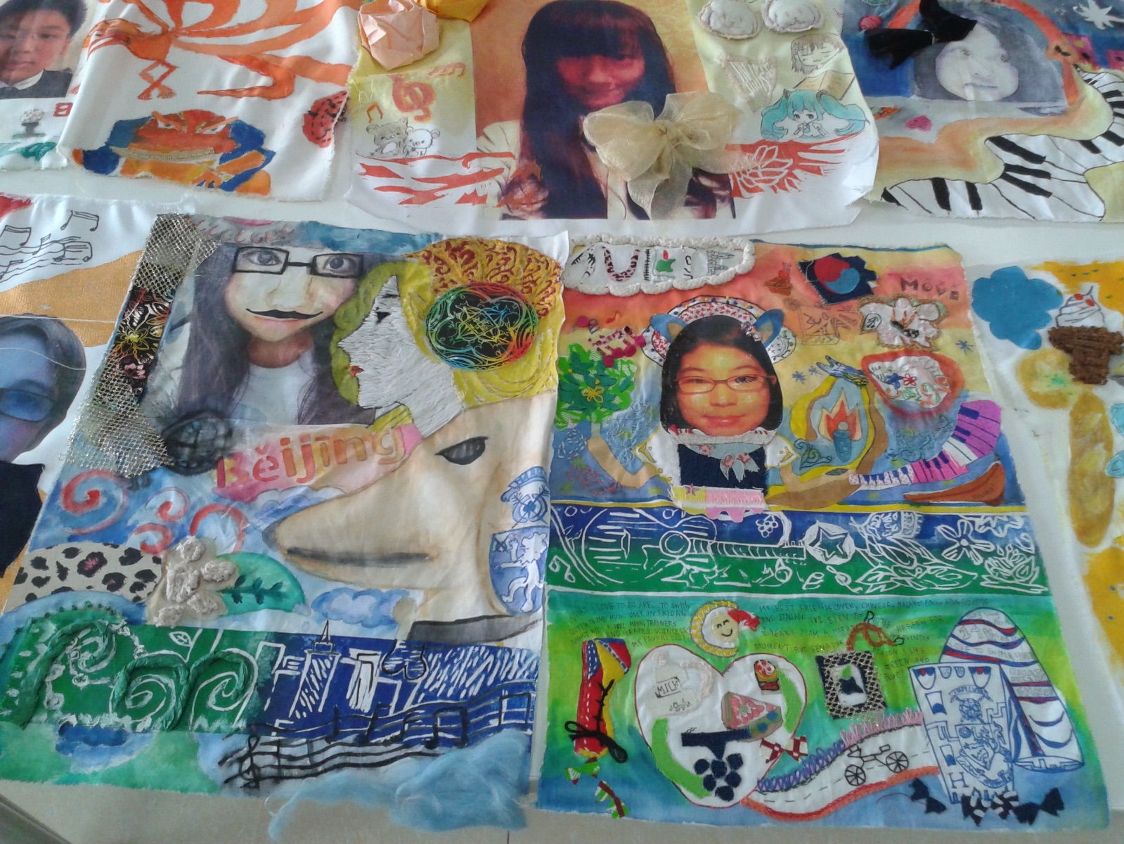 Self Identity Photography Fabric Collage Teaching Resources