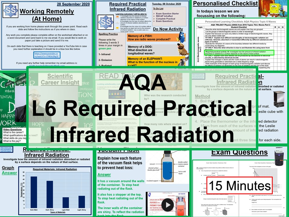 Physics Required Practical Infrared Radiation GCSE AQA Complete Lesson