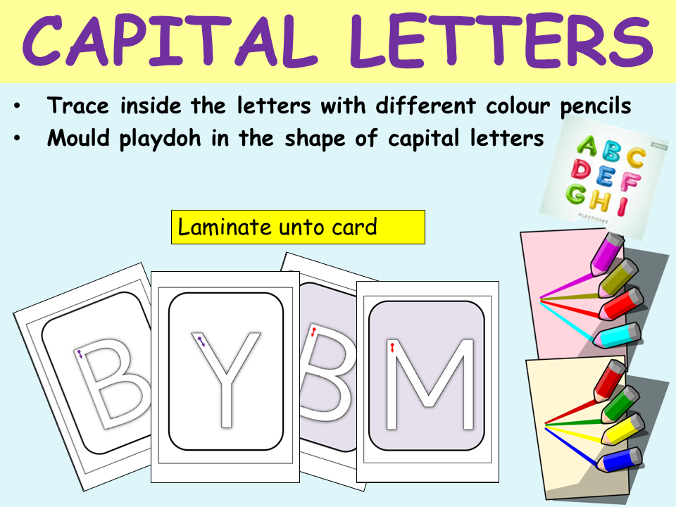 Alphabet: Capital Letters, Formation and Recognition