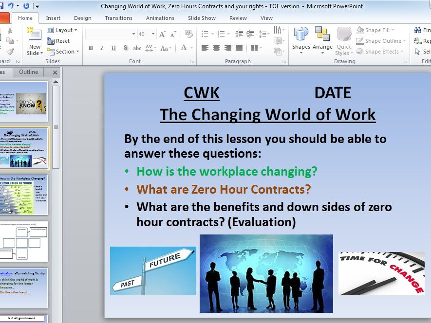 Preparation for Working Life SOW with revision resources