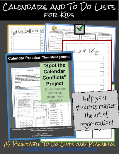Calendar and To Do Lists for Kids