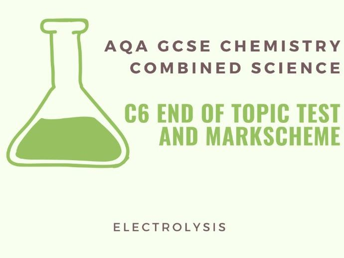 AQA GCSE Chemistry C6 End of Topic Test