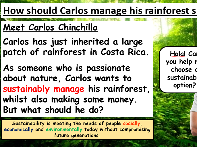 Costa Rica: How can you sustainably manage a tropical rainforest?